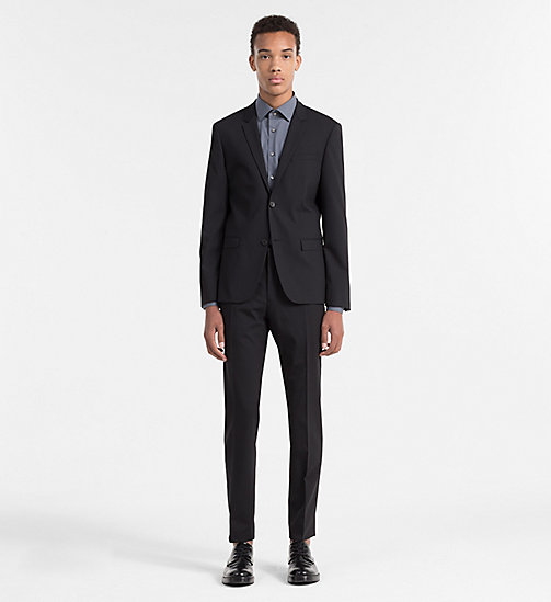 Slim Wool Blazer - PERFECT BLACK - CALVIN KLEIN  - detail image 1