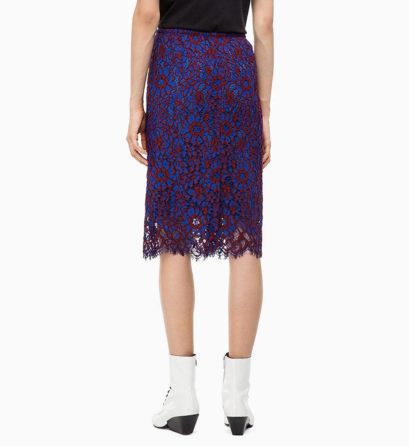 Calvin Klein - Falda lápiz de encaje - 2