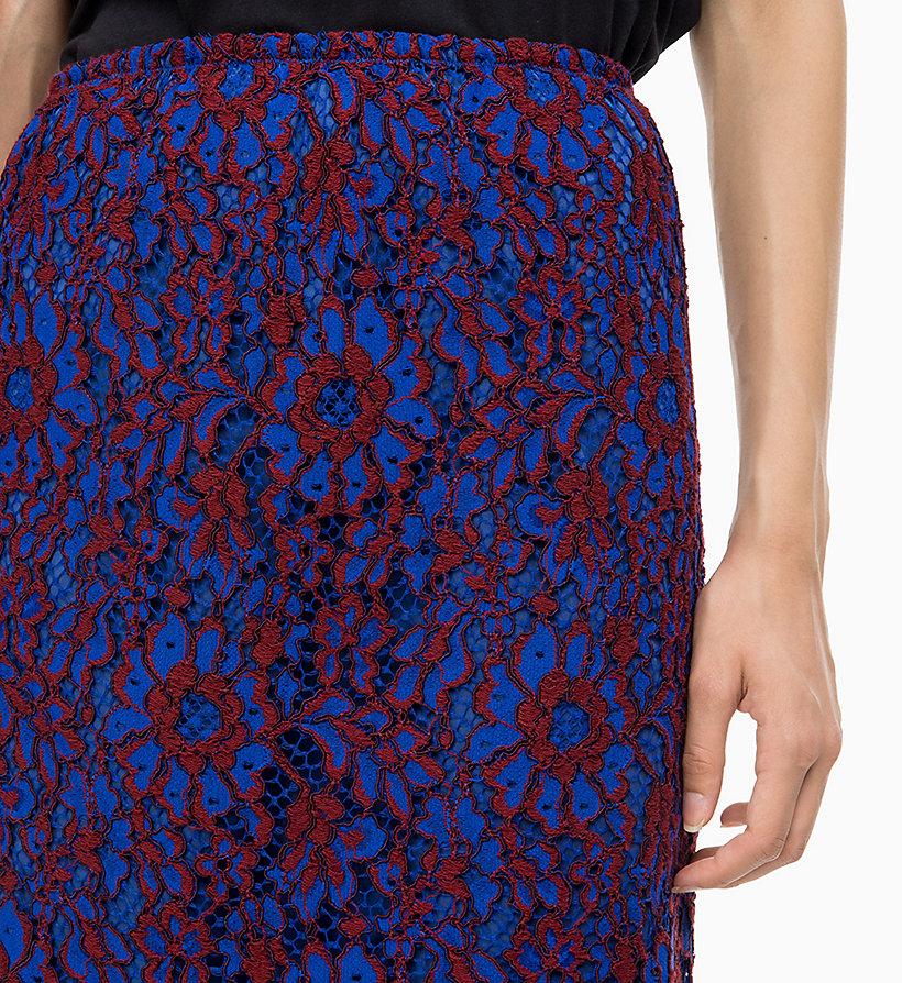 Calvin Klein - Falda lápiz de encaje - 3