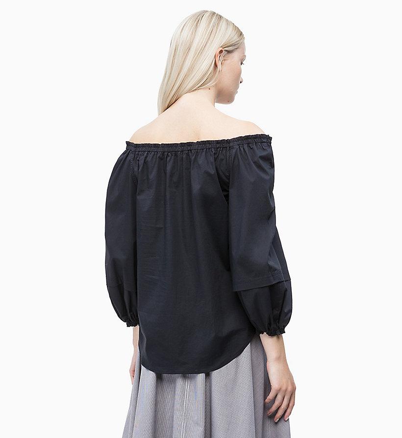 Calvin Klein - Schulterfreie Baumwoll-Popeline-Bluse - 2