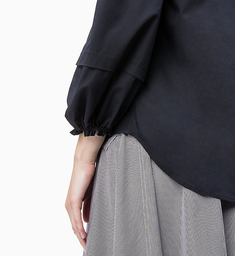 Calvin Klein - Schulterfreie Baumwoll-Popeline-Bluse - 3