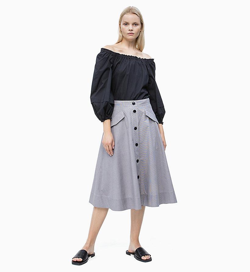 Calvin Klein - Schulterfreie Baumwoll-Popeline-Bluse - 4