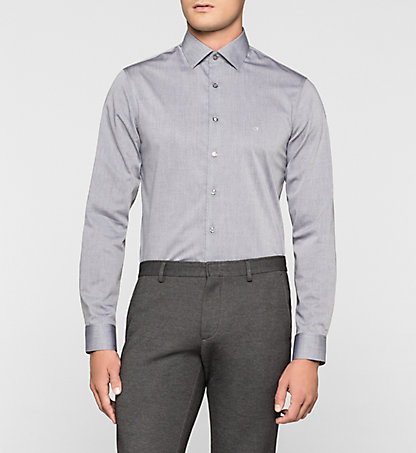 CALVIN KLEIN Fitted Dress Shirt - Cannes K30K300032060