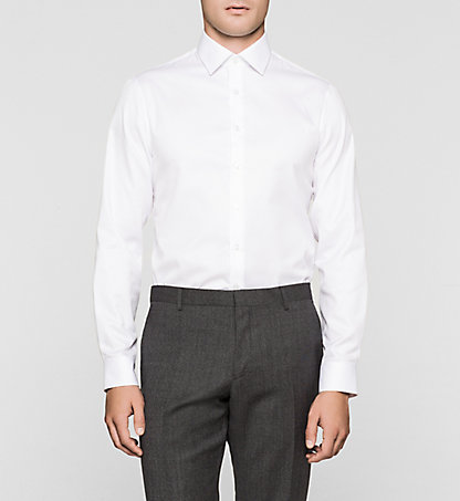 CALVIN KLEIN Fitted Dress Shirt - Cannes K30K300063100