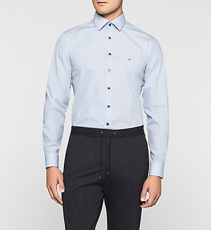 CALVIN KLEIN Fitted Dress Shirt - Cannes K30K300079417