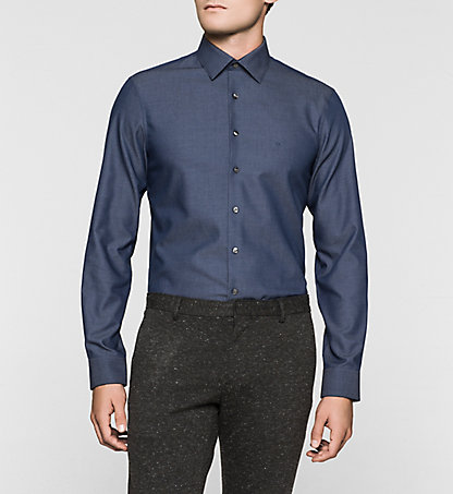 CALVIN KLEIN Fitted Dress Shirt - Cannes K30K300092415