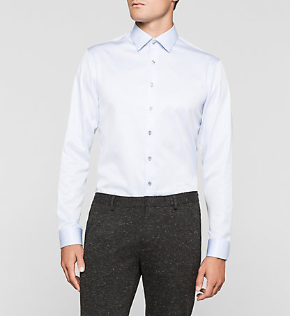 CALVIN KLEIN Fitted Dress Shirt - Cannes K30K300106450
