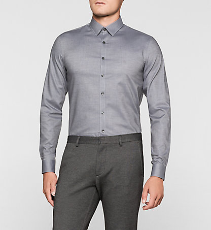 CALVIN KLEIN Slim Dress Shirt - Marseille K30K300107016