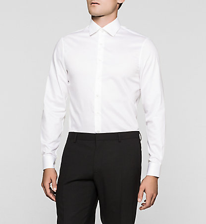 CALVIN KLEIN Fitted Dress Shirt - Cannes K30K300109100