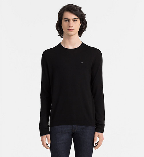 CALVINKLEIN Wool Sweater - BLACK - CALVIN KLEIN JUMPERS - main image