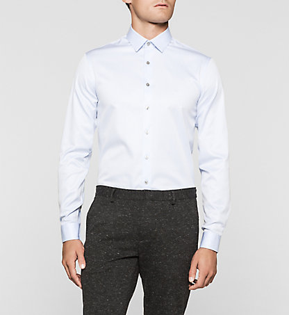 CALVIN KLEIN Slim Dress Shirt - Bari K30K300321450