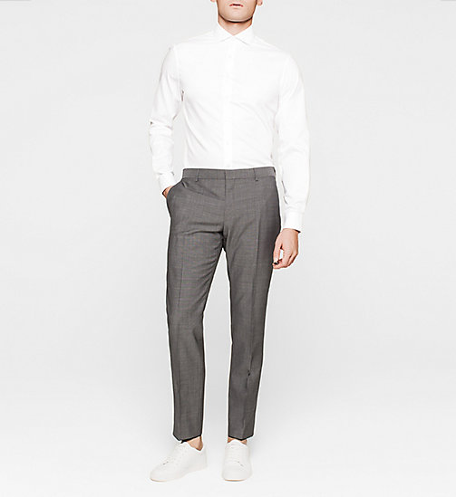 Fitted Microdot Shirt - WHITE - CALVIN KLEIN  - detail image 1