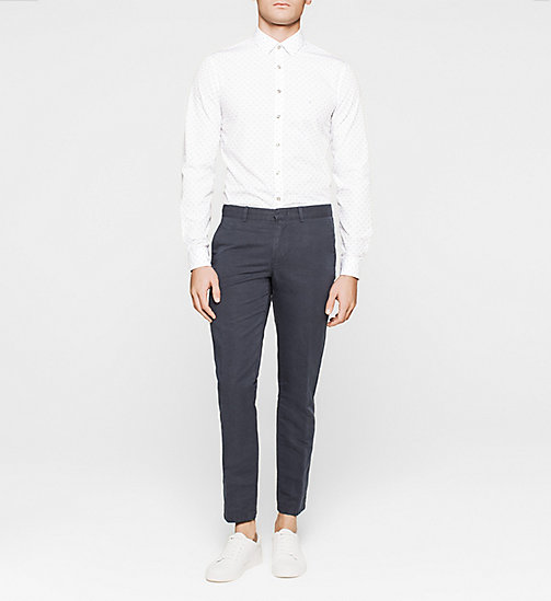 Slim Dress Shirt - WHITE - CALVIN KLEIN SHIRTS - detail image 1