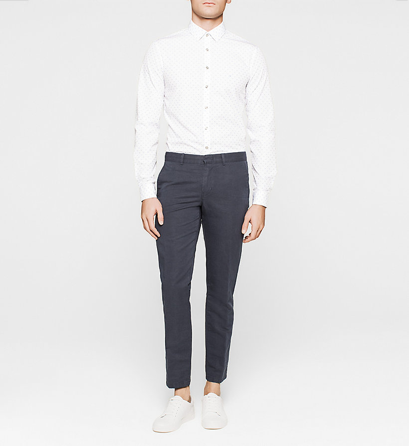 CALVINKLEIN Slim Dress Shirt - WHITE - CALVIN KLEIN SHIRTS - detail image 1