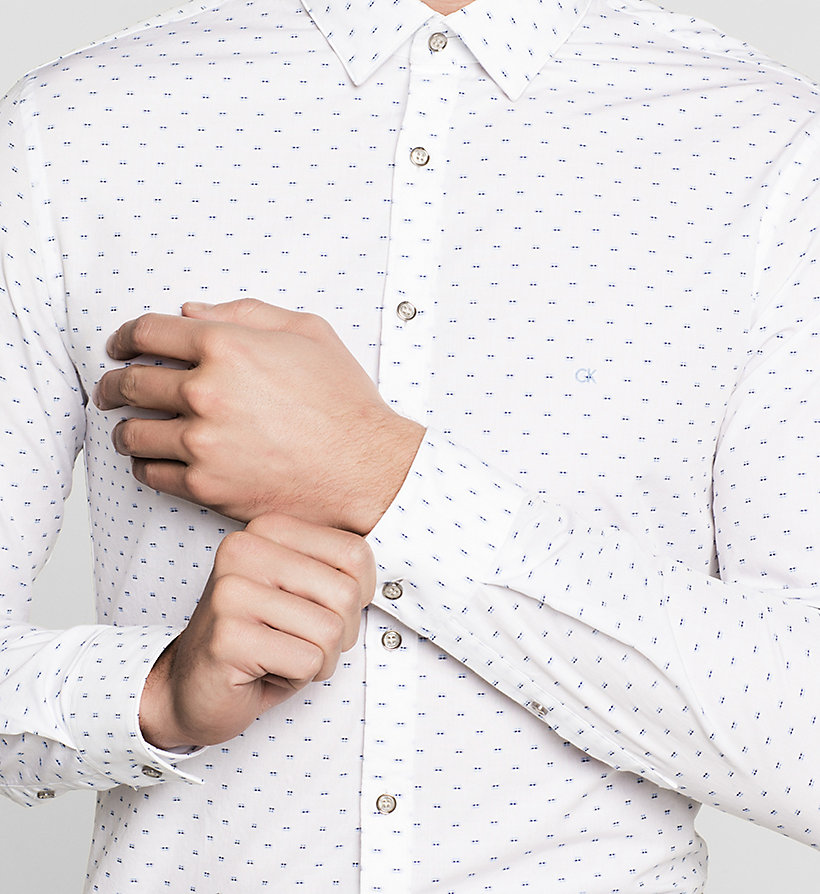 CALVINKLEIN Slim Dress Shirt - WHITE - CALVIN KLEIN SHIRTS - detail image 2