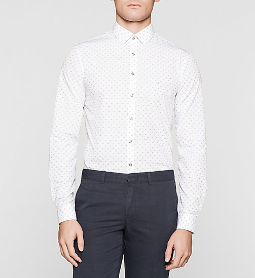 Slim Dress Shirt - WHITE - CALVIN KLEIN  - main image
