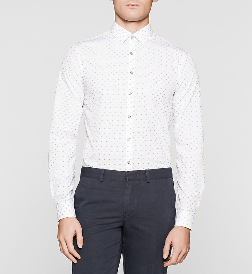 CALVINKLEIN Slim Dress Shirt - WHITE - CALVIN KLEIN SHIRTS - main image