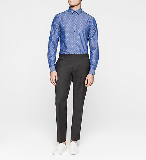 Slim Dress Shirt - NAVY - CALVIN KLEIN  - detail image 1