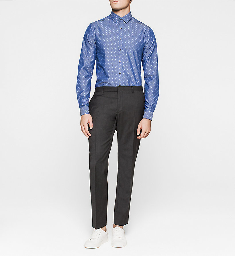 CALVINKLEIN Slim Dress Shirt - NAVY - CALVIN KLEIN SHIRTS - detail image 1