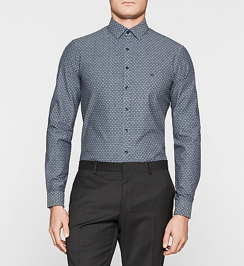 Slim Dress Shirt - NAVY - CALVIN KLEIN  - main image