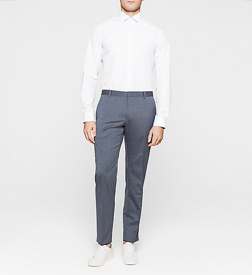 Fitted Dress Shirt - BLUE - CALVIN KLEIN  - detail image 1