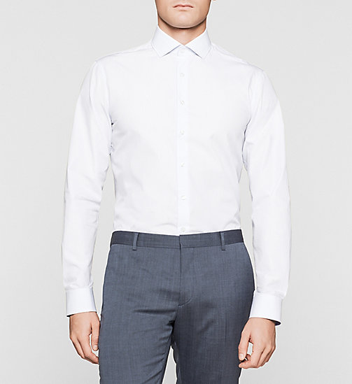 Fitted Dress Shirt - BLUE - CALVIN KLEIN  - main image