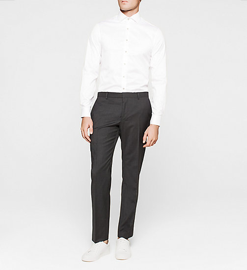 Fitted Dress Shirt - WHITE - CALVIN KLEIN  - detail image 1