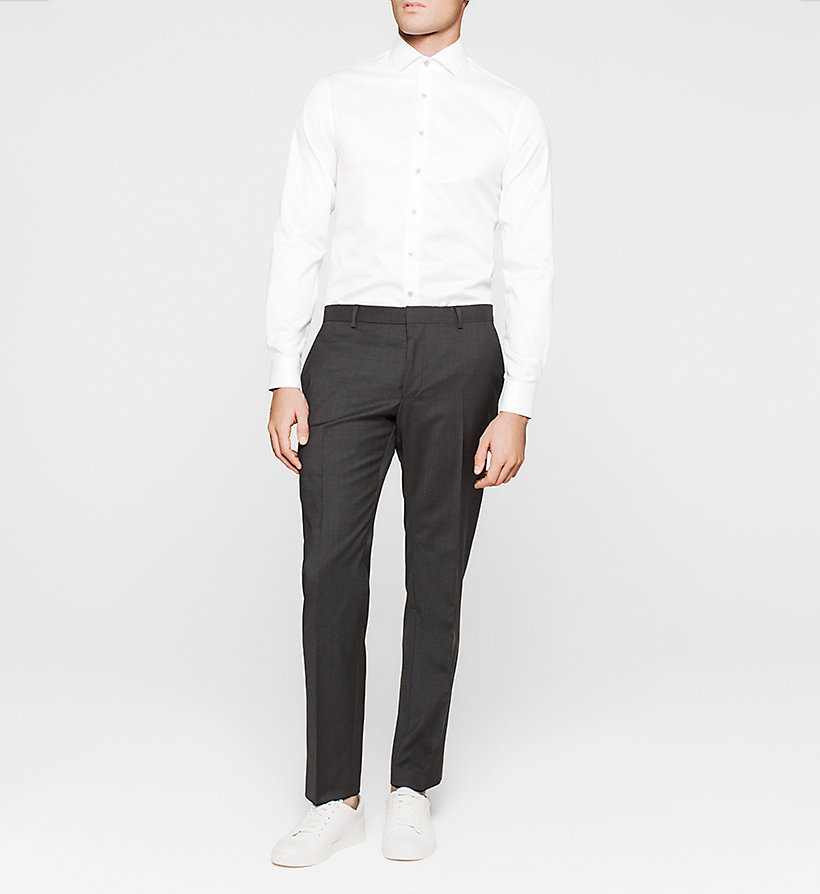CALVINKLEIN Fitted Dress Shirt - WHITE - CALVIN KLEIN SHIRTS - detail image 1