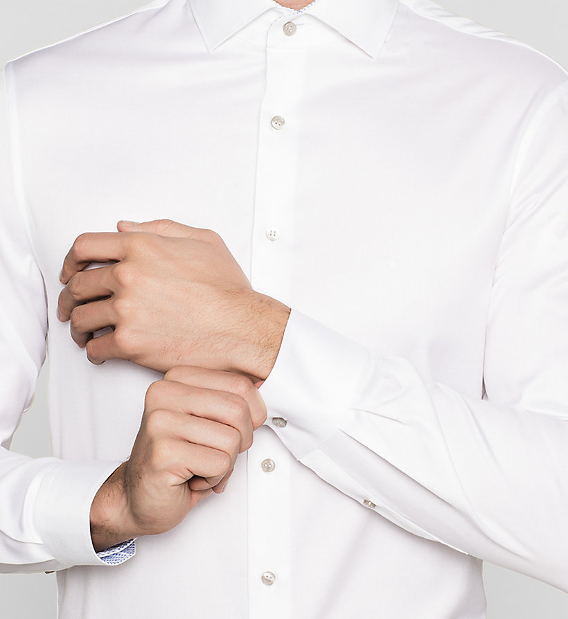 CALVINKLEIN Fitted Dress Shirt - WHITE - CALVIN KLEIN SHIRTS - detail image 2