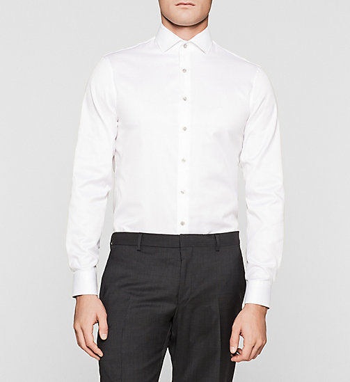 Fitted Dress Shirt - WHITE - CALVIN KLEIN SHIRTS - main image