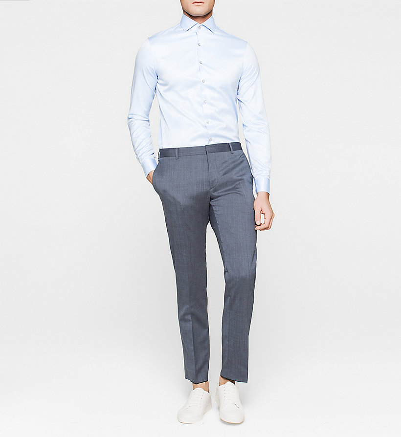 CALVINKLEIN Fitted Dress Shirt - BLUE - CALVIN KLEIN SHIRTS - detail image 1