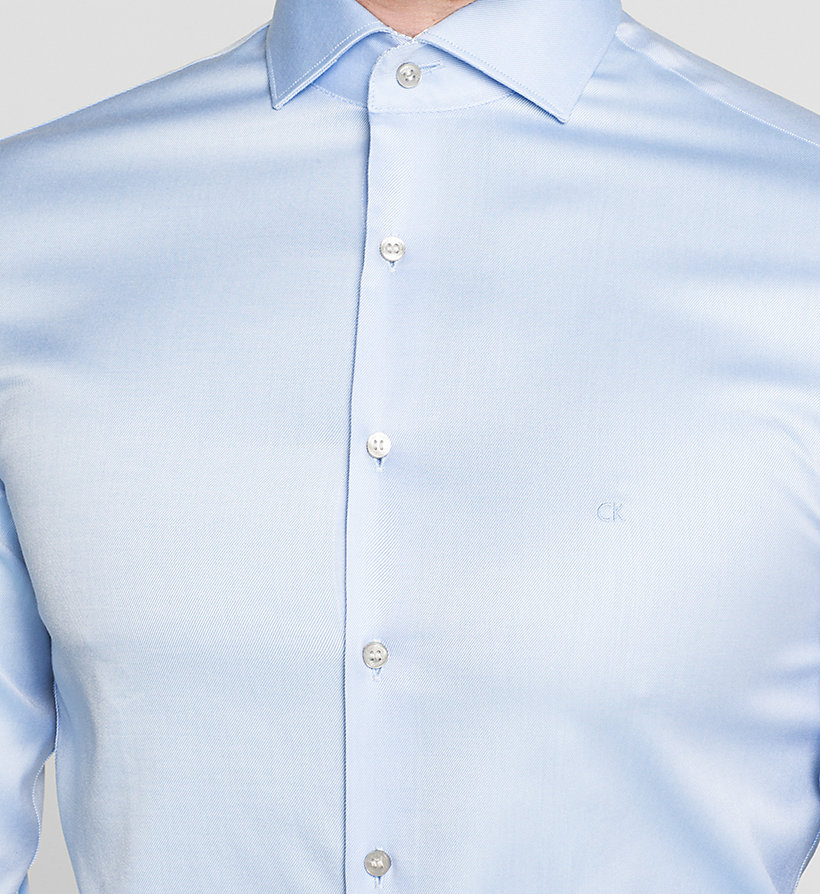 CALVINKLEIN Fitted Dress Shirt - BLUE - CALVIN KLEIN SHIRTS - detail image 2