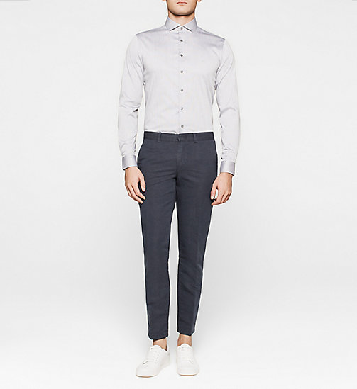 Slim Dress Shirt - GREY - CALVIN KLEIN SHIRTS - detail image 1