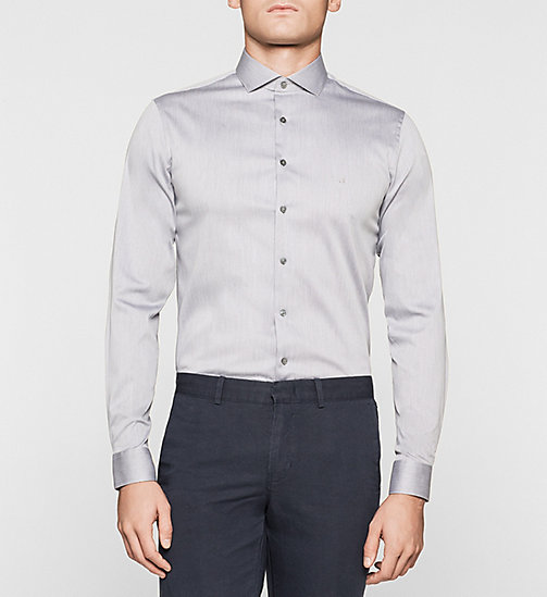 Slim Dress Shirt - GREY - CALVIN KLEIN  - main image