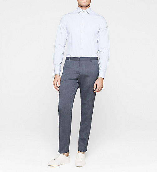 Fitted Dress Shirt - BLUE - CALVIN KLEIN SHIRTS - detail image 1