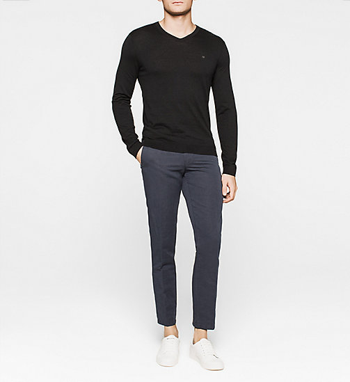 CKJEANS Silk-blend Sweater - BLACK - CALVIN KLEIN JUMPERS - detail image 1