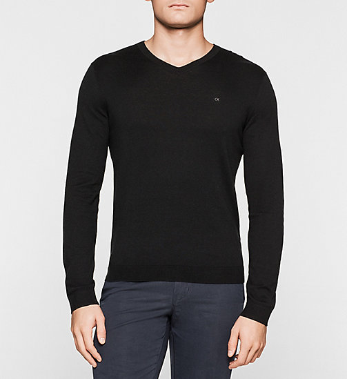 Silk-blend Sweater - BLACK - CALVIN KLEIN JUMPERS - main image
