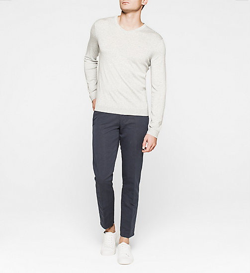 CKJEANS Silk-blend Sweater - LIGHT GREY - CALVIN KLEIN JUMPERS - detail image 1