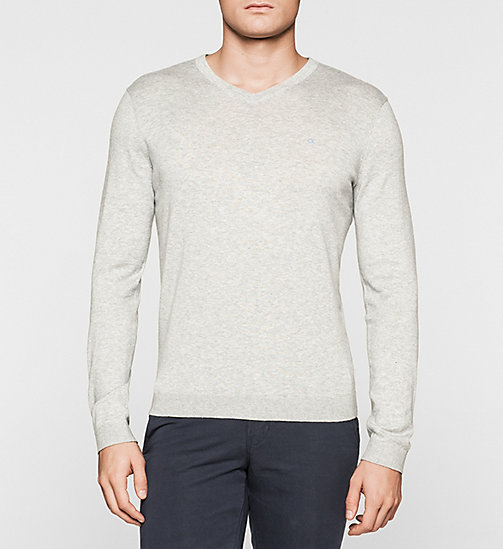Silk-blend Sweater - LIGHT GREY - CALVIN KLEIN JUMPERS - main image