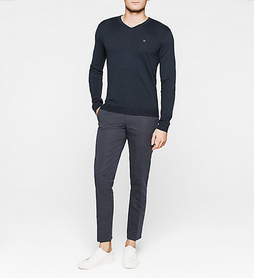 CKJEANS Silk-blend Sweater - NAVY - CALVIN KLEIN JUMPERS - detail image 1