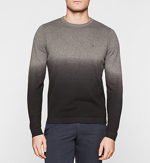 Ombre Sweater - GREY - CALVIN KLEIN JUMPERS - main image