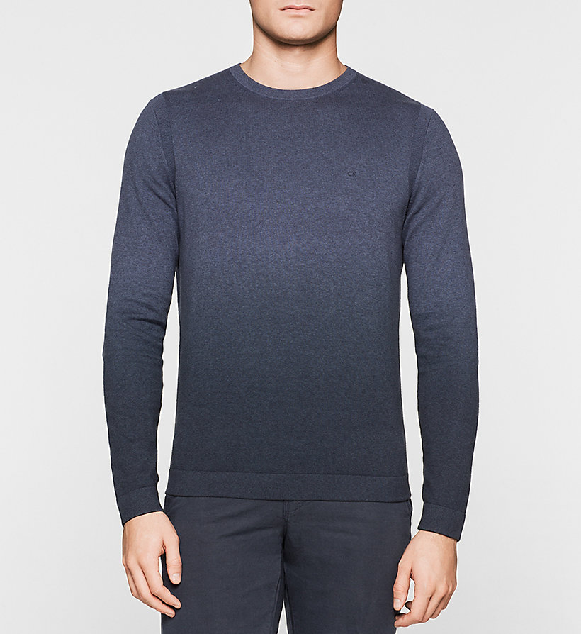 CALVINKLEIN Ombre Sweater - BLUE - CALVIN KLEIN JUMPERS - main image
