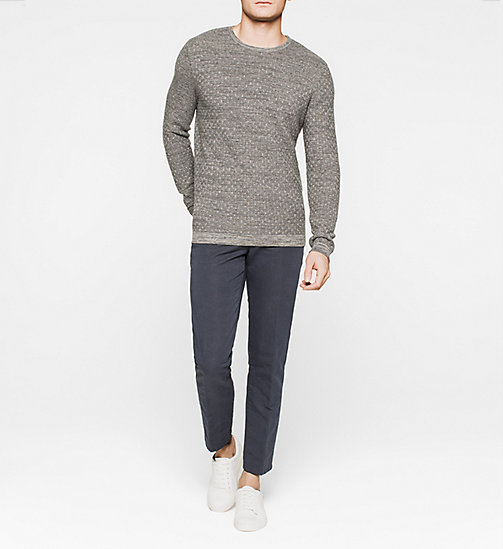 CALVINKLEIN Melange Sweater - GREY - CALVIN KLEIN JUMPERS - detail image 1