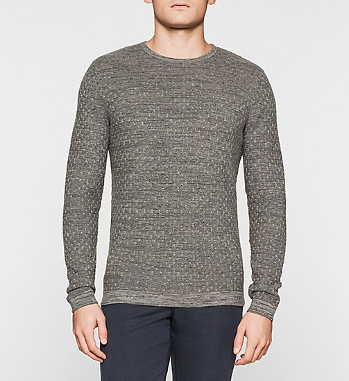 Melange Sweater - GREY - CALVIN KLEIN JUMPERS - main image