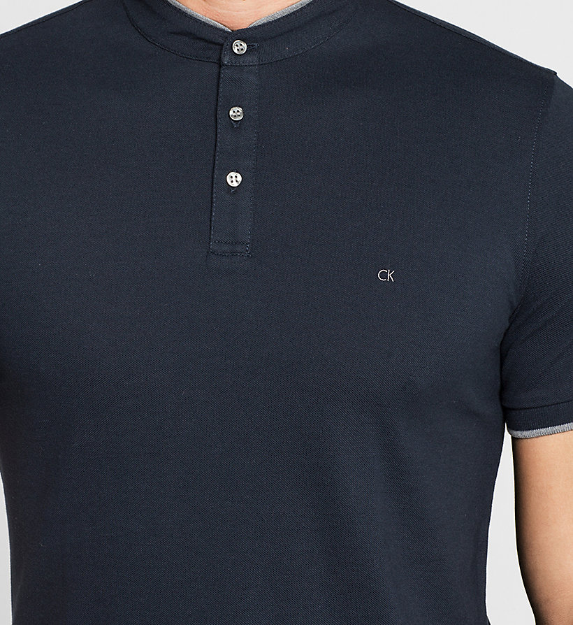 CALVINKLEIN Fitted Pima Cotton Polo - NAVY - CALVIN KLEIN POLO SHIRTS - detail image 2