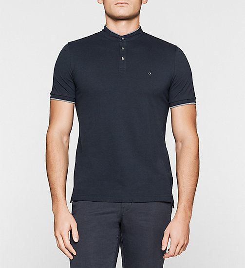 CKJEANS Fitted Pima Cotton Polo - NAVY - CALVIN KLEIN POLO SHIRTS - main image