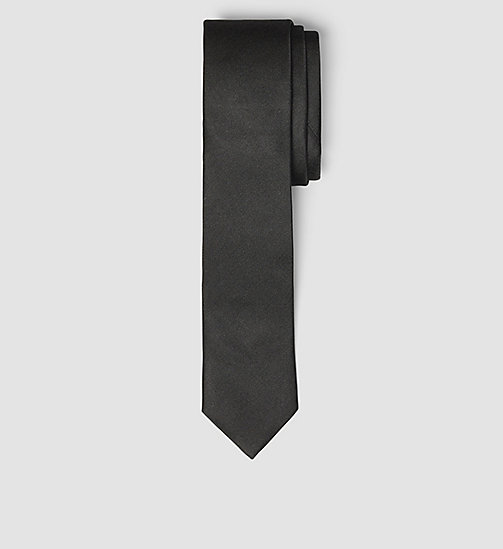 Slim Silk Tie - BLACK - CALVIN KLEIN SHOES & ACCESSORIES - main image