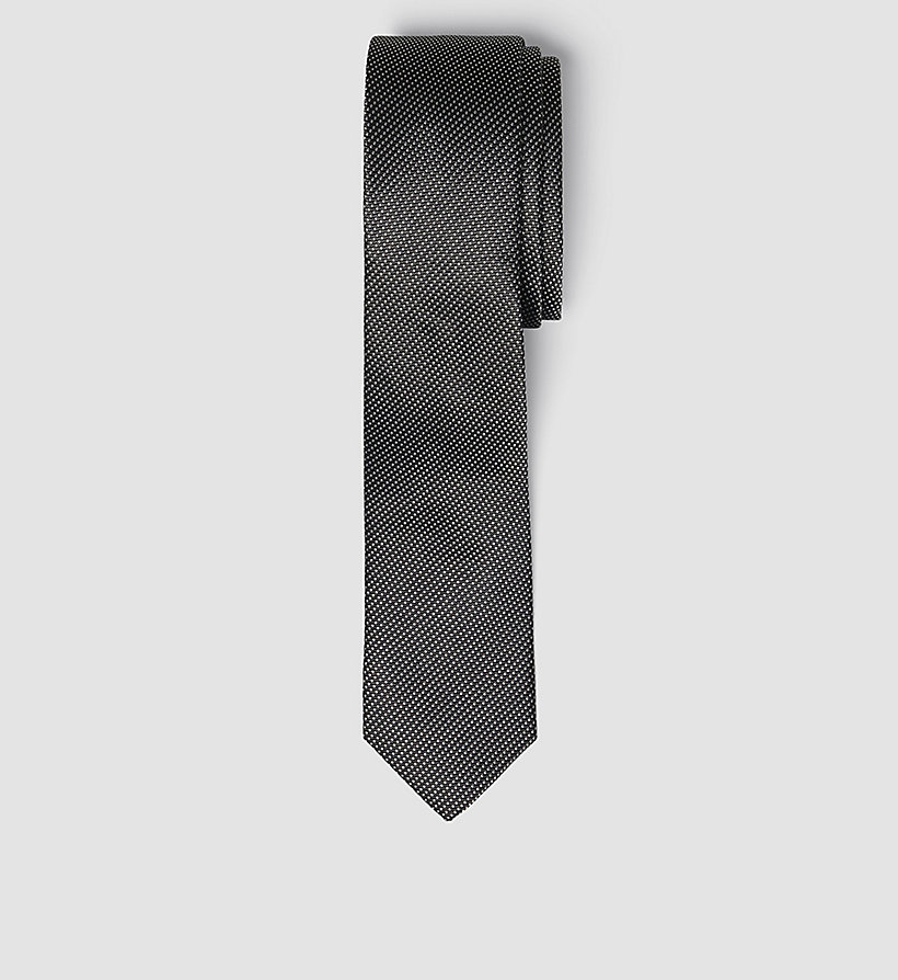 CALVINKLEIN Slim Silk Tie - BLACK - CALVIN KLEIN SHOES & ACCESSORIES - main image