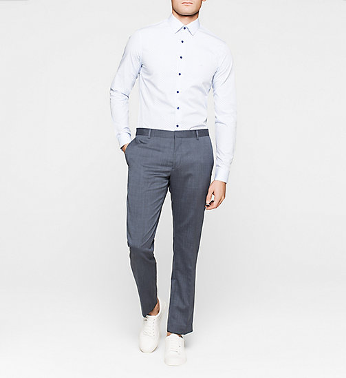 Slim Dress Shirt - BLUE - CALVIN KLEIN SHIRTS - detail image 1