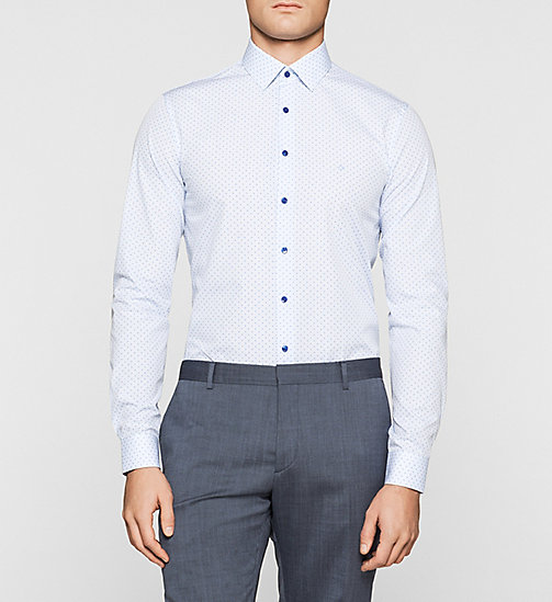 Slim Dress Shirt - BLUE - CALVIN KLEIN  - main image